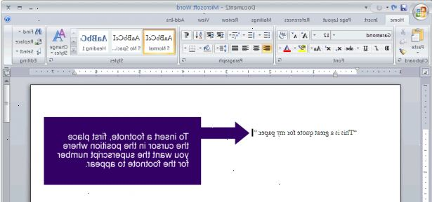 fotnoter word mac